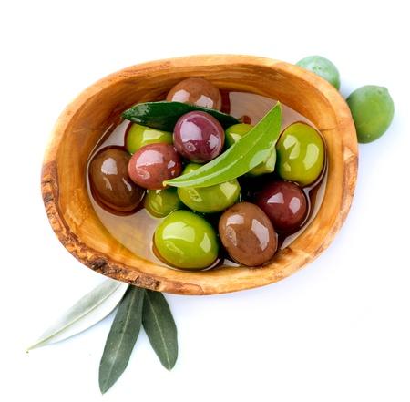 hoja de olivo: Aceitunas y Aceite de Oliva Foto de archivo