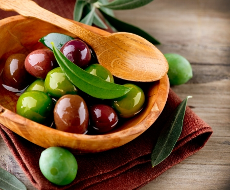 vegetarian: Olives  Stock Photo