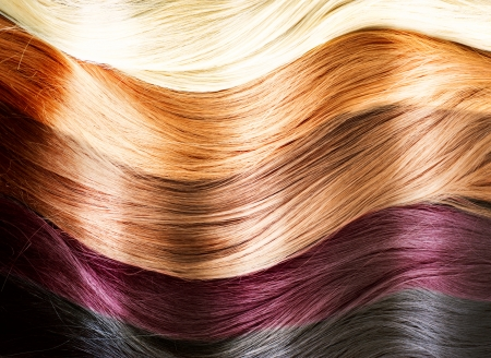 Hair Colors Palette  Hair Texture  Stok Fotoğraf