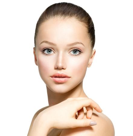 Fille Modèle Beauty Portrait belle femme face