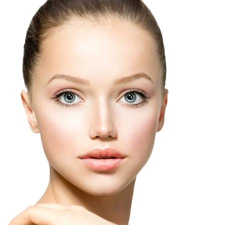 gezicht: Beauty Model Meisje Portret Mooie Vrouw Gezicht Stockfoto