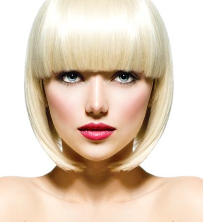 ファッション スタイリッシュな美しさの肖像画美しい少女の顔クローズ アップ