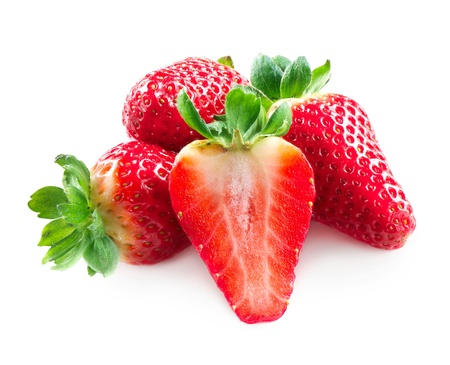 srawberries: Strawberry  Strawberries Isolated on a White Background