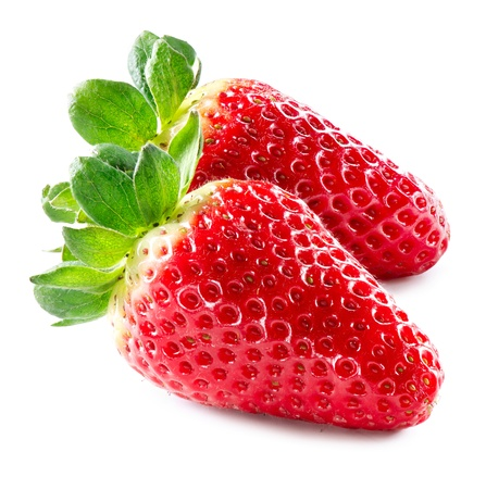 Strawberry  Strawberries Isolated on a White Background  Stock Photo - 17936548