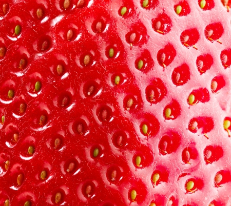 Strawberry Texture  Berry Background  Closeup Structure  Macro  Stock Photo - 18098428