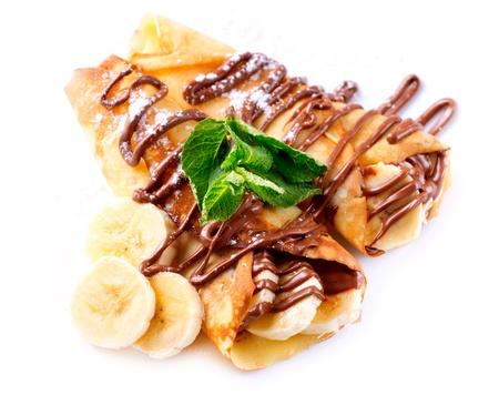 crepas: Crepes de plátano y chocolate