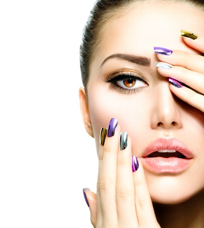 Fashion Beauty  Manicure and Make-up  Nail Art Stock Photo - 18098413