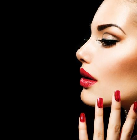 labios sexy: Belleza Mujer con maquillaje perfecto