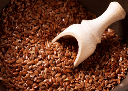 linseed: Flax seeds, Linseed, Lin seeds close-up