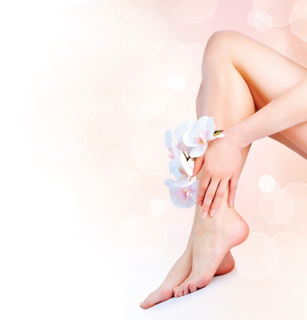 Woman s Feet and Hands  Manicure and Pedicure concept Stock Photo - 18696818