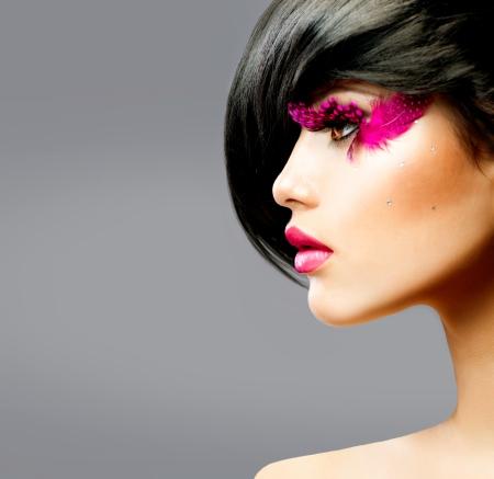 belle brunette: Portrait Mannequin Brunette