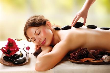 massage: Salon Spa Massage aux pierres Dayspa Banque d'images