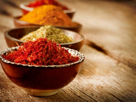 indian spice: Spices Curry, Saffron, Turmeric
