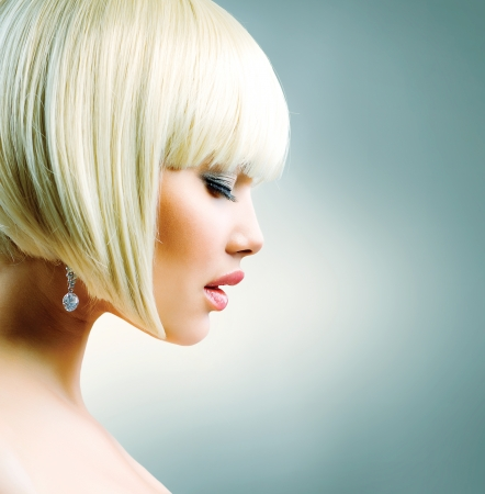 blond hair: Beautiful Model with Short Blond hair