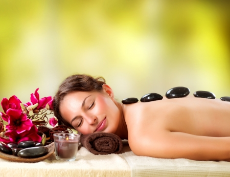 massage stones: Spa Salon  Stone Massage  Dayspa