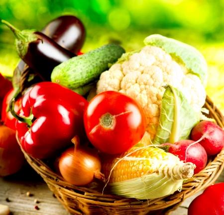 Gezonde biologische groenten Bio voedsel Stockfoto
