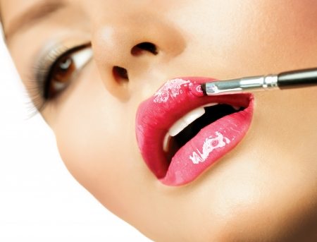 Professional Make-up  Lipgloss  Lipstick  Stock Photo - 18690595