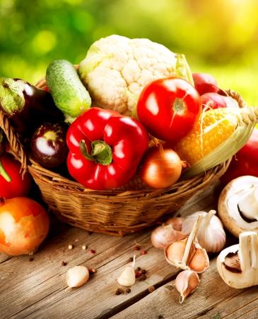 dieta saludable: Healthy verduras orgánicas Bioalimentos Foto de archivo