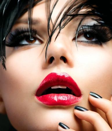 lipgloss: Fashion Art Girl Portrait  Stock Photo