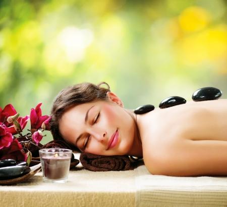 traitement: Salon Spa Massage aux pierres Dayspa Banque d'images