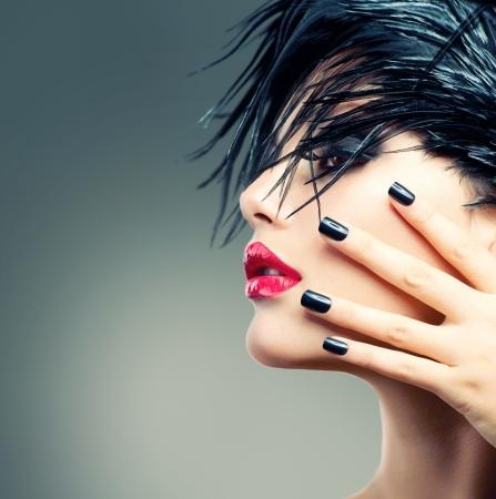 Fashion Art Girl Portrait Stock Photo - 18881190