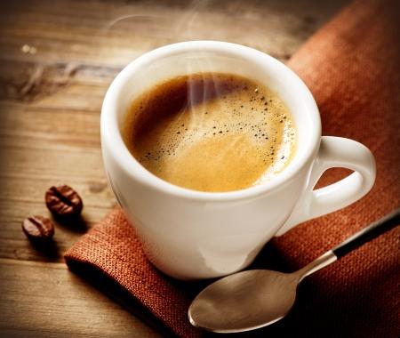 tazzina caff�: Caff� Espresso tazza di caff� Archivio Fotografico