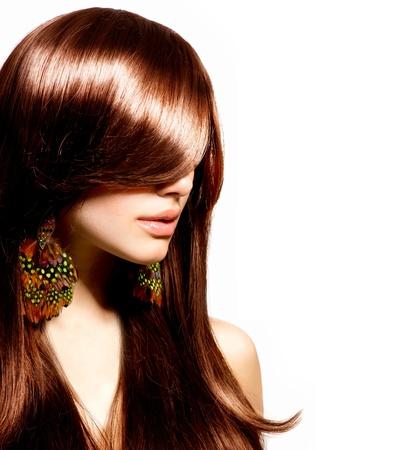 Fashion Portret Vrouw Stijlvolle Model Beauty Make-up