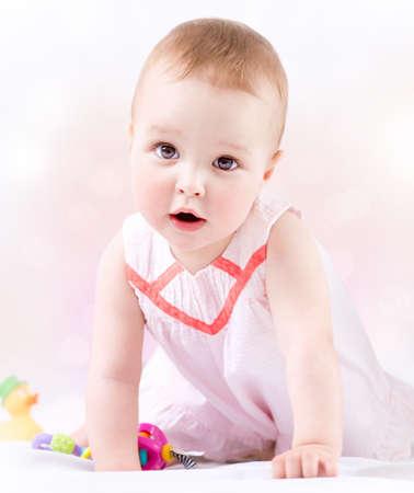 ni�a: Beb� lindo de la ni�a Retrato