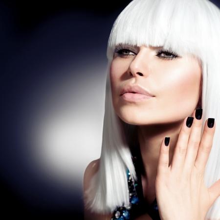 Fashion Vogue Style Model Portrait Imagens