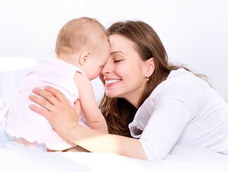 Mother and Baby kissing and hugging  Happy Family Stock Photo - 19631863