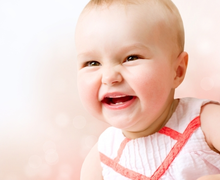 Baby  Cute Smiling Baby Girl  photo