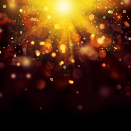 Gold Festive Christmas background  Golden Abstract Bokeh  photo