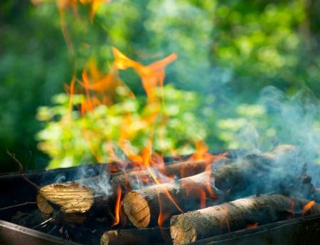 embers: BBQ Fire outdoor  Bonfire closeup