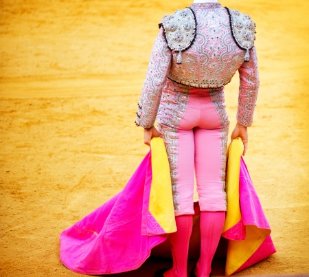 gaff: Corrida  Matador Fighting in a typical Spanish Bullfight