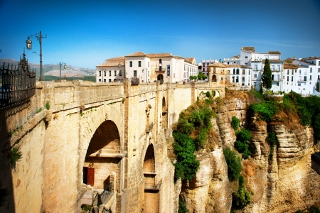ronda: Ronda, Spain  Panoramic view of the old city of Ronda  Spain