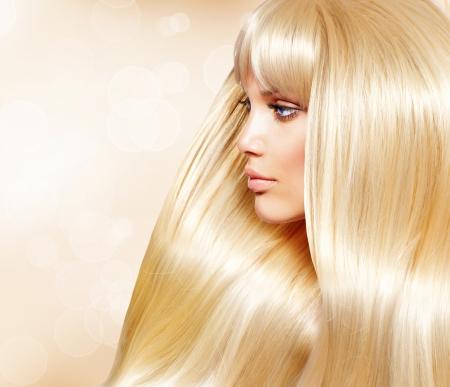 Blond Hair Fashion Meisje Met Gezond Lang Glad Haar Blond Hair Fashion Meisje Met Gezond Lang Glad Haar