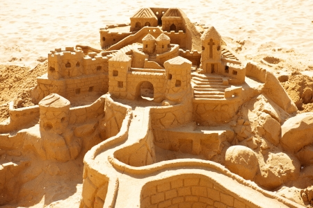 sands of time: Sand Castle on the Beach