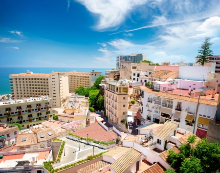 malaga: Torremolinos Panoramic View, Costa del Sol  Malaga, Spain  Stock Photo