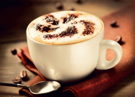 Cappuccino Kopje Cappuccino Koffie Stockfoto