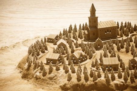 chateau de sable: Ch?teau de sable sur la plage