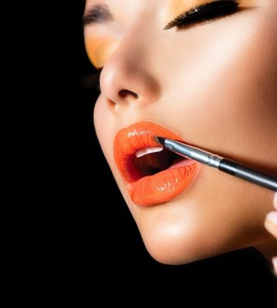 ajakrúzs: Professional Make-up ajakfény Rúzs Stock fotó