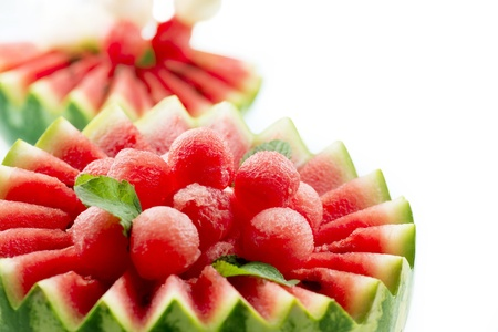 Watermelon  Fruit Salad  Fresh and Ripe Watermelon Balls  Stock Photo - 21386631