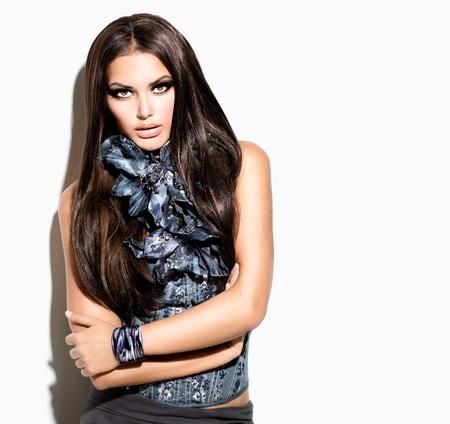 美容ファッション モデル女の子肖像画流行スタイル女性