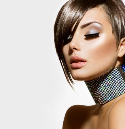 eyelashes: Fashion Beauty Girl  Gorgeous Woman Portrait