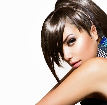 pretty woman face: Fashion Beauty Girl  Gorgeous Woman Portrait