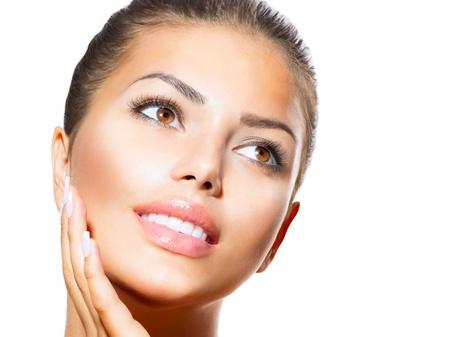 beauty: Beauty Portrait Sch?Spa Frau ber? ihr Gesicht