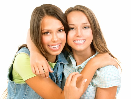 Teenager Friends  Friendship  Happy and Laughing Teenage Girls Stock Photo - 21749040