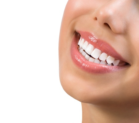 치과 치료 개념 화이트닝 건강한 미소 치아 스톡 콘텐츠 - 21749061