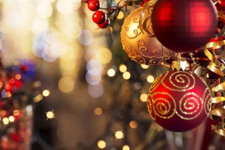 クリスマスと新年装飾 写真素材