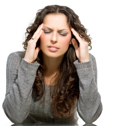 Woman having Headache  Sick  photo